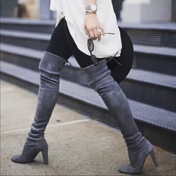 Shoes - Over the knee high boutique boots gray new fall
